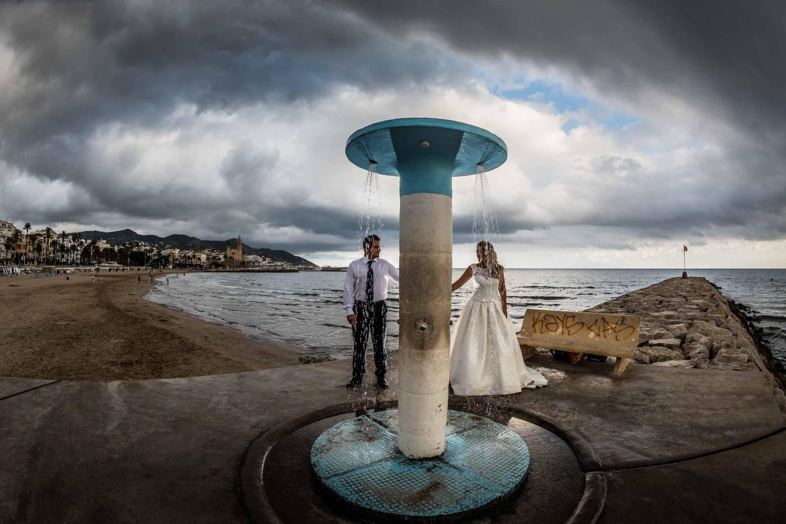 Post boda en Barcelona y Sitges. 2018 12